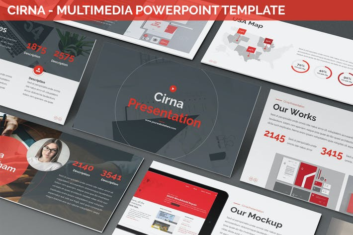 Thumbnail for Cirna - Multimedia Powerpoint Template
