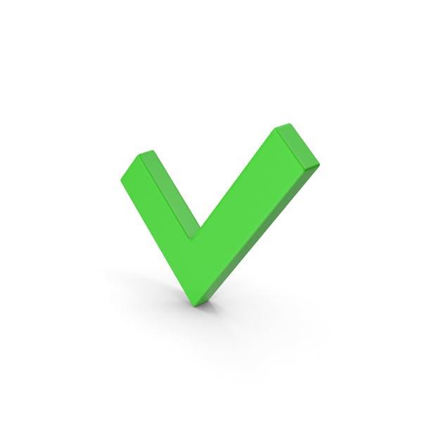 Symbol Check Mark Green