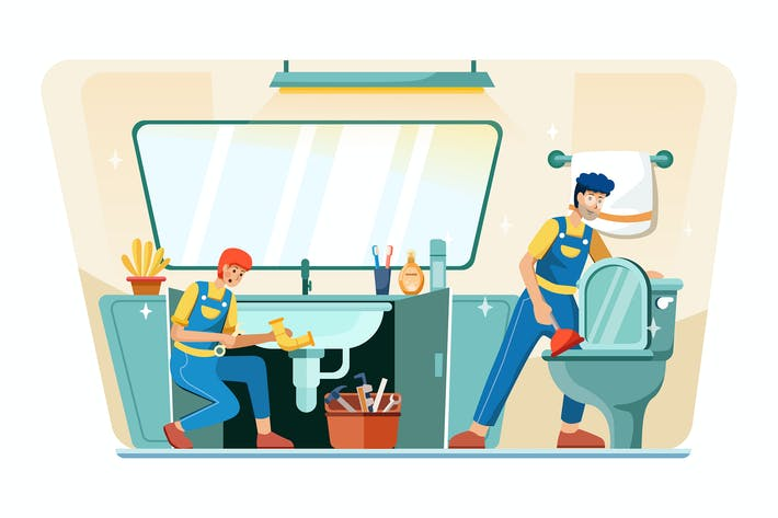 Thumbnail for Plumbers is repairing the hand sink