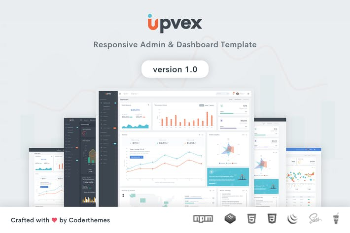 Thumbnail for Upvex - Admin & Dashboard Template
