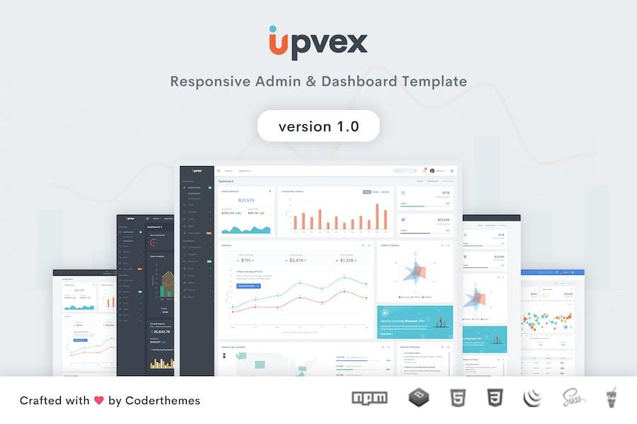 Upvex - Admin & Dashboard Template