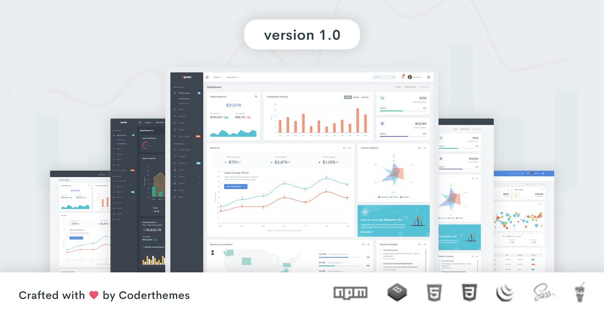 Download Upvex - Admin & Dashboard Template by coderthemes