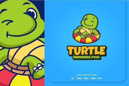 Schildkröte Schwimmbad Logo