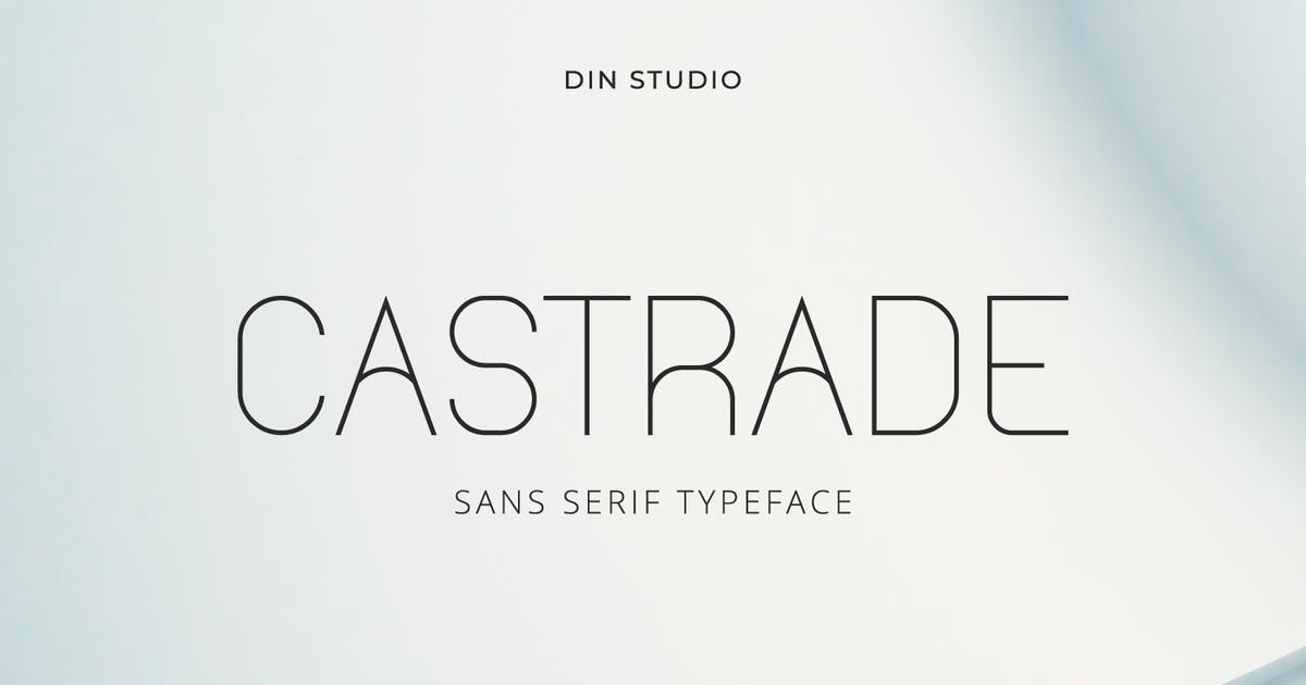 Download Castrade - Modern Sans Font by Din-Studio