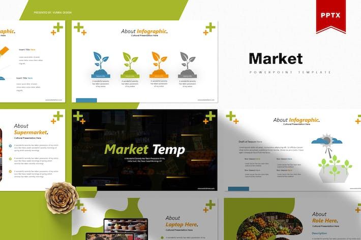 Thumbnail for Market   Powerpoint Template