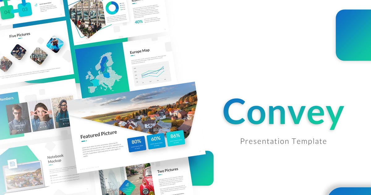 Download Convey Presentation Template by RRgraph