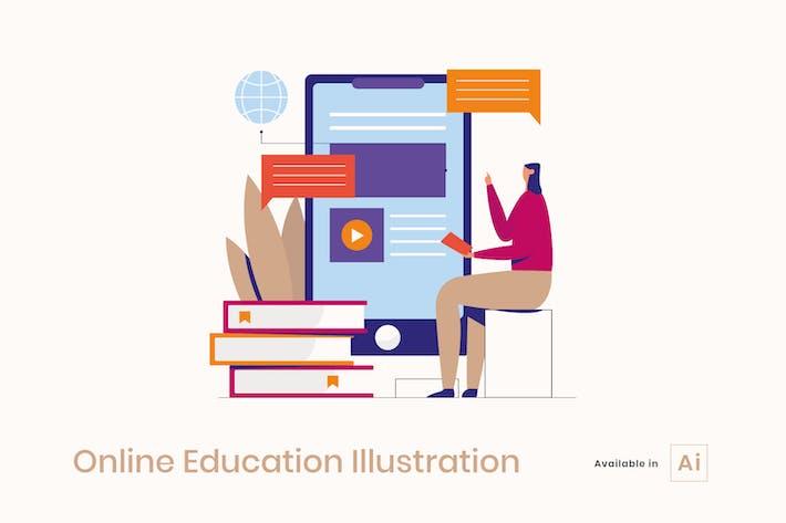 Online-Bildungs-Illustration