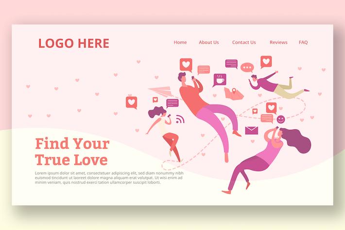 Thumbnail for Dating Messenger - Zielseite