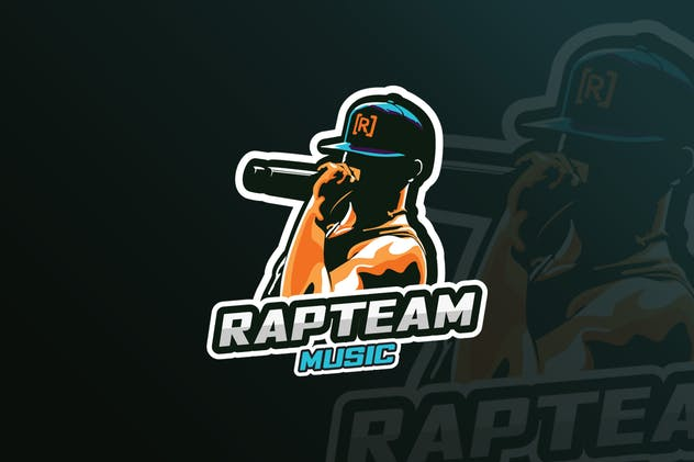 Rap Music Mascot & eSports Gaming Logo