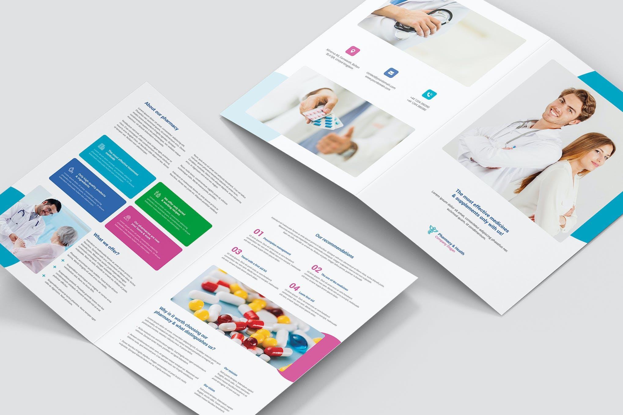 Brochure – Pharmacy Bi-Fold by artbart on Envato Elements For Pharmacy Brochure Template Free