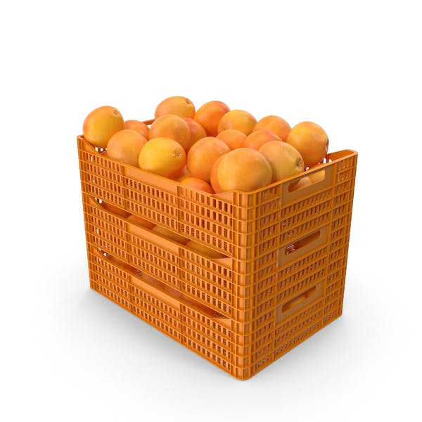 Plastic Crates with Grapefruits