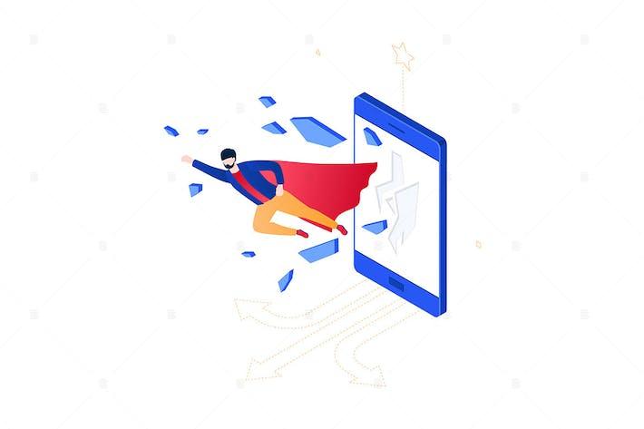 Thumbnail for Business Held - isometrische Vektor illustration