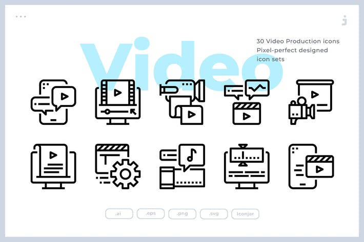 Thumbnail for 30 Video Production Icons