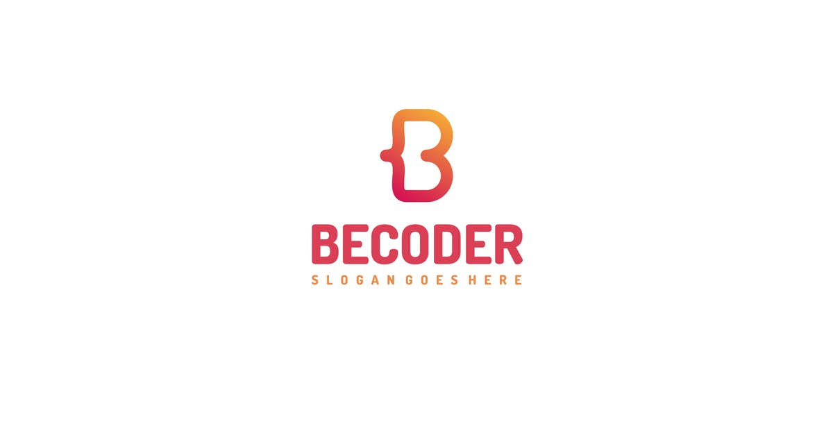 Download B Letter-Code Logo by 3ab2ou