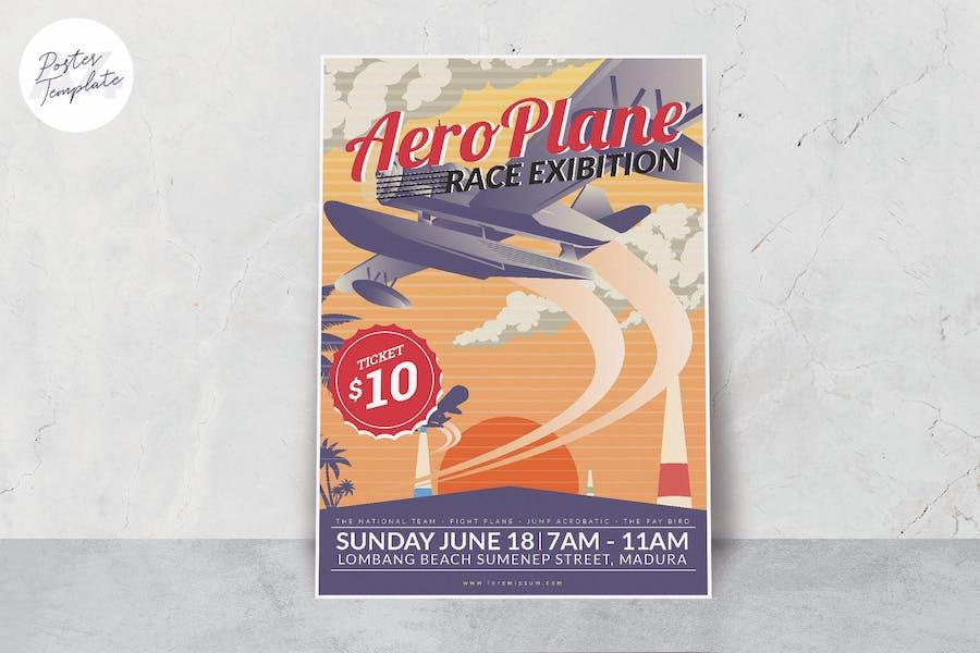 Aero Plane Race Event Poster