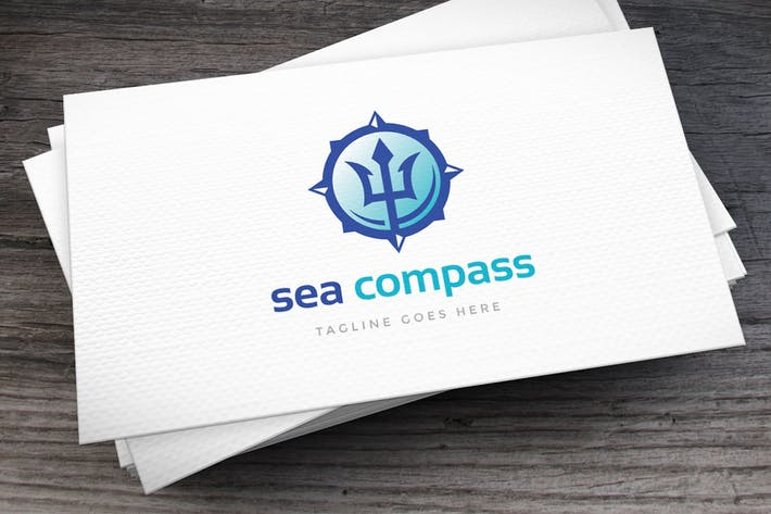 Thumbnail for Sea Compass Logo Template