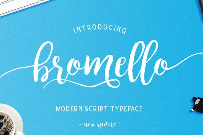 Cover Image For bromello typeface