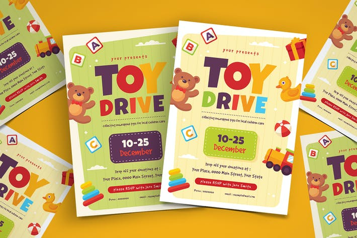 Toy Drive Flyer Template By Vynetta On Envato Elements