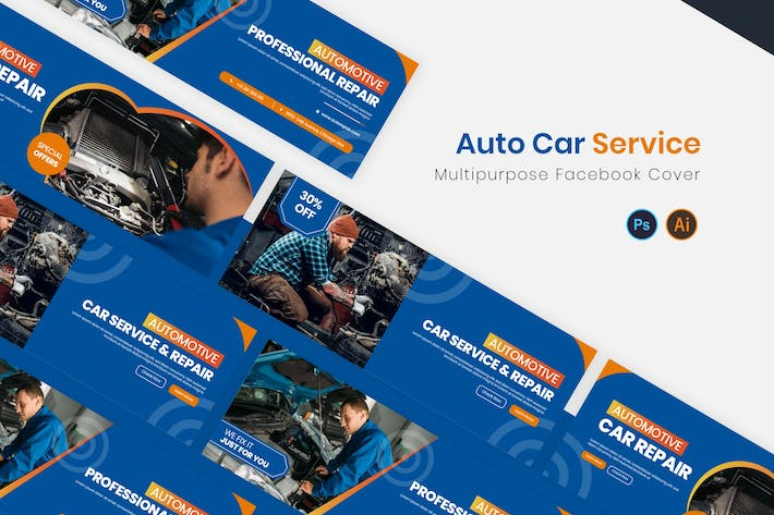 Thumbnail for Auto Car Service Facebook Cover