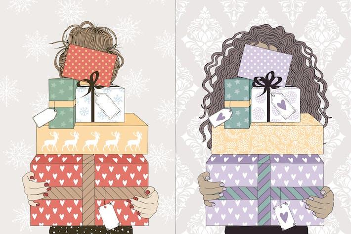 Thumbnail for Mujeres Jóvenes sosteniendo regalos