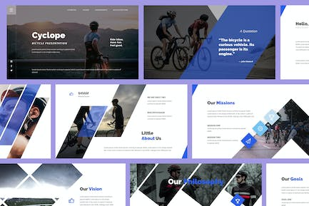 Cyclope - Bicycle Powerpoint Template