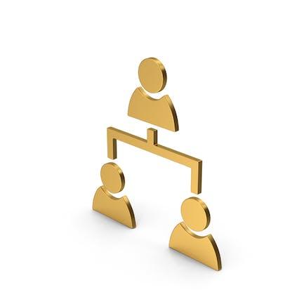 Symbol Menschen Verbindung Gold