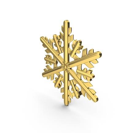 Золотая снежинка