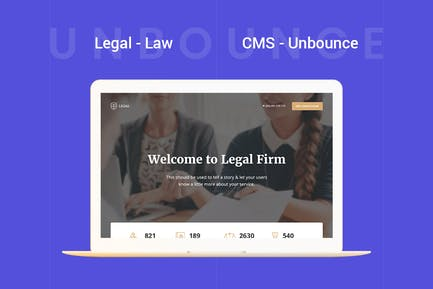 Legal - Law Unbounce Template