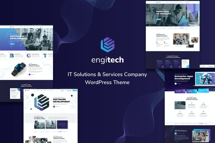 Thumbnail for Engitech - IT Solutions & Services Template