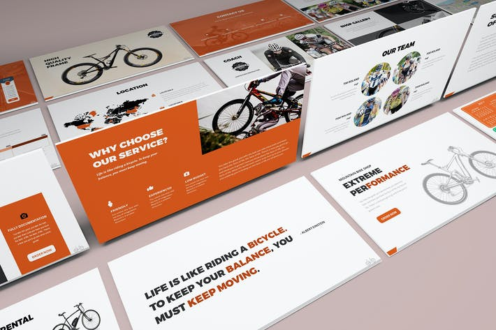 Thumbnail for Bicycle Keynote Presentation Template