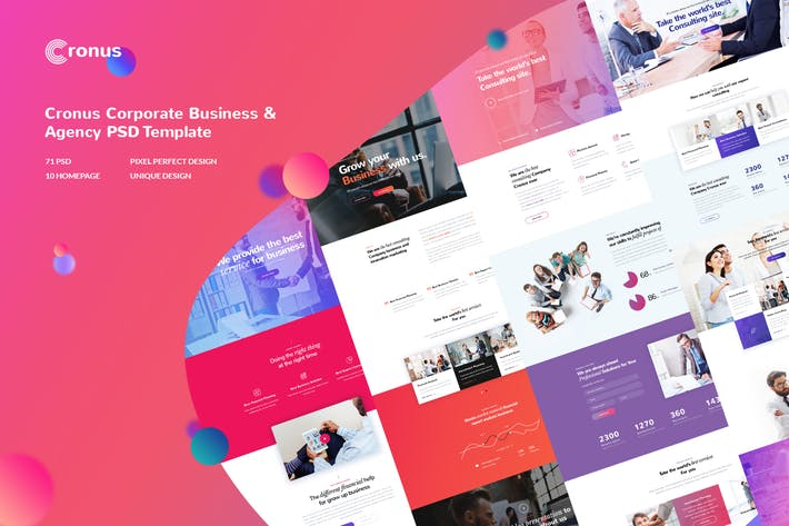 Thumbnail for CRONUS - Corporate Business, Agency PSD Template