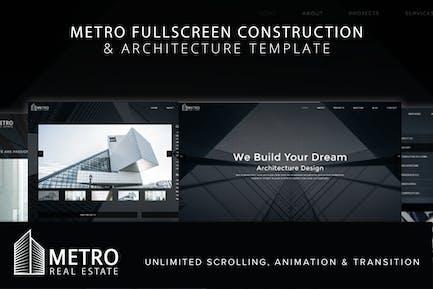 Metro Fullscreen Architecture Template