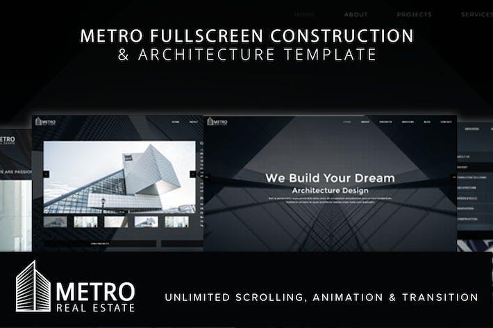 Modèle d'architecture plein écran Metro