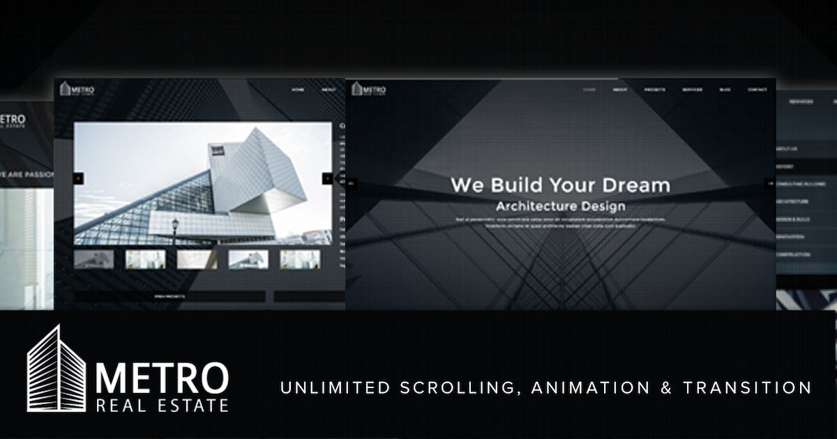 Download Metro Fullscreen Architecture Template by on3-step