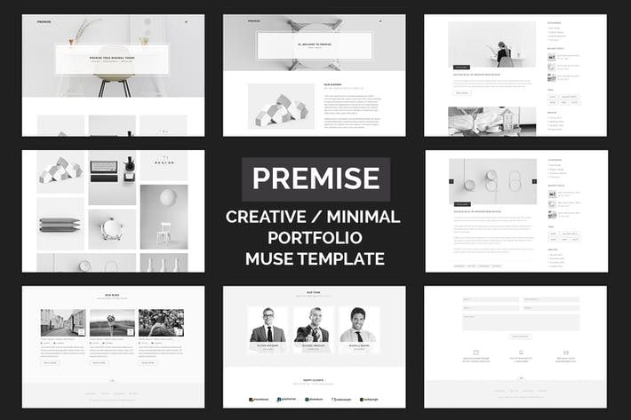 Cover Image For Premise - Creative and Minimal Portfolio