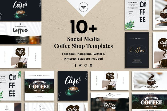 Thumbnail for Social Media Coffee Shop Templates