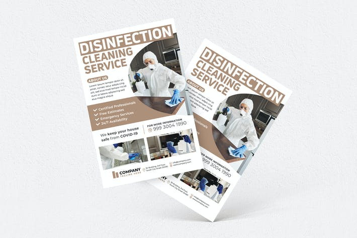 Thumbnail for Disinfection Cleaning Service Flyer