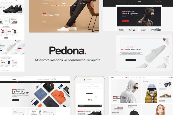Thumbnail for Pedona - Отзывчивый Magento Тема