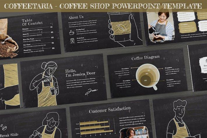 Thumbnail for Coffeetaria - Кофейня Powerpoint Шаблон
