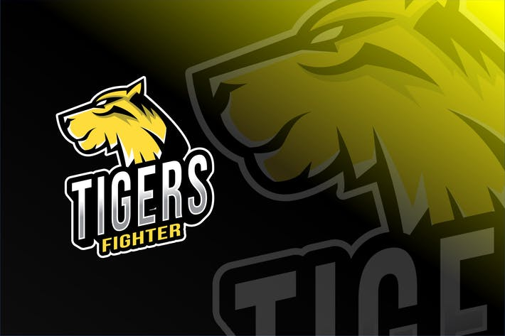 Thumbnail for Tigers Fighter Esport Logo Template