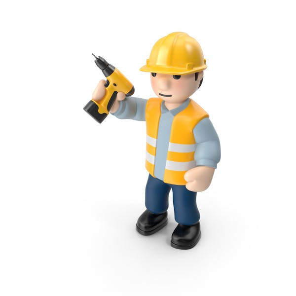 Worker with Screwdriver