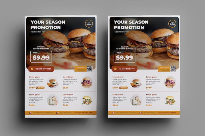 Thumbnail for Fast Food Flyer Design.31