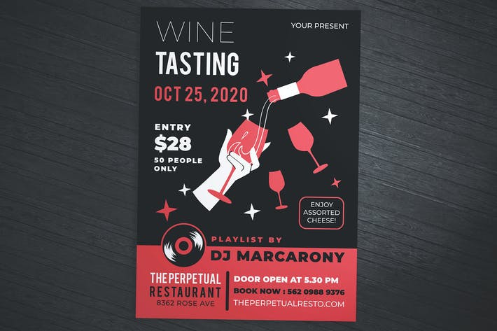 Cover Image For Wine Tasting Flyer