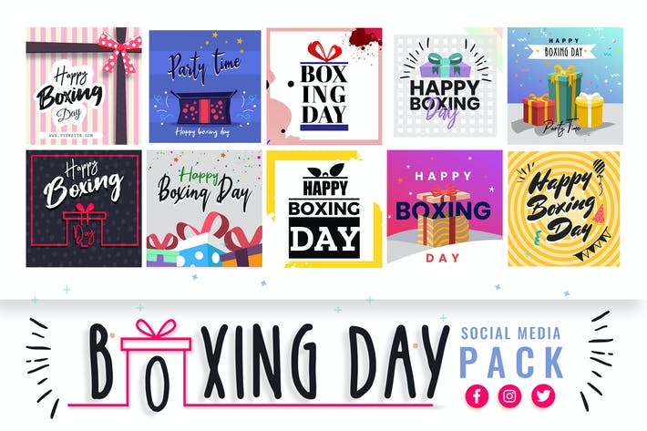 Thumbnail for Boxing Day Social Media Templates