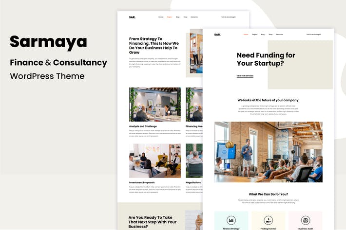 Thumbnail for Sarmaya – Finance & Consultancy WordPress Theme