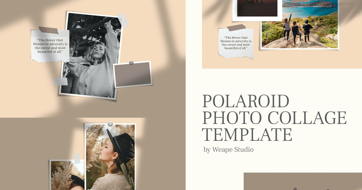 Download Polaroid Photo Collage Template by weapedesign