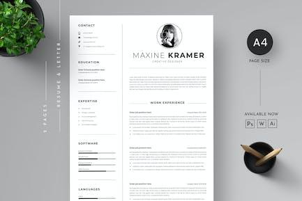 CV Resume & Letter cover Template