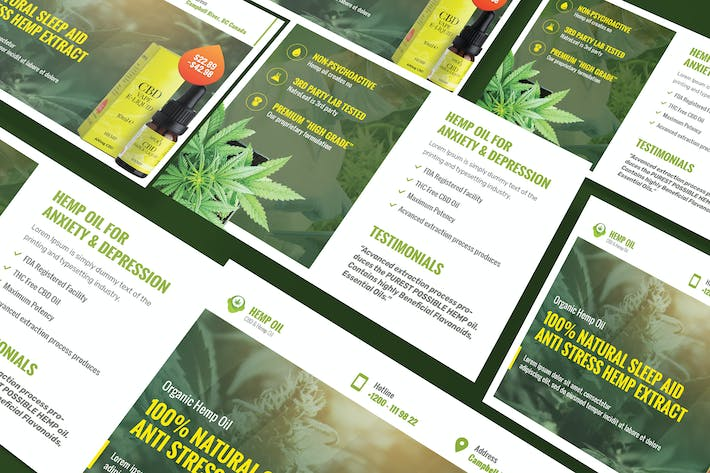 Thumbnail for Cannabis Hemp Oil Products A5 Business Flyer
