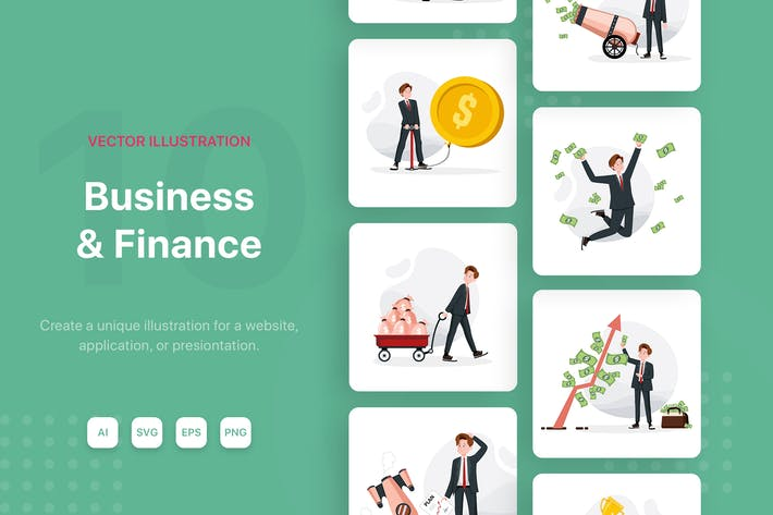 Thumbnail for Business Finance Illustrations