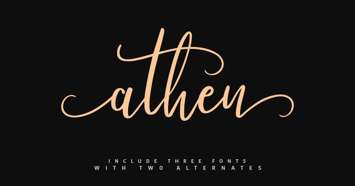 Download Athen Typeface by maulanacreative